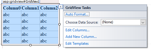 Configuring the grid view