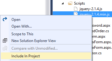 Including a file in a Visual Studio project