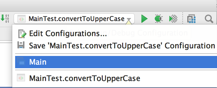 IntelliJ IDEA configuration switcher